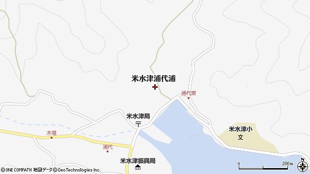 大分県佐伯市米水津大字浦代浦604周辺の地図