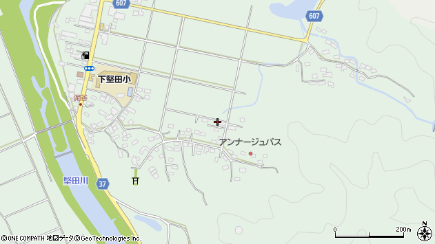大分県佐伯市堅田5605周辺の地図