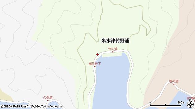 大分県佐伯市米水津大字竹野浦200周辺の地図