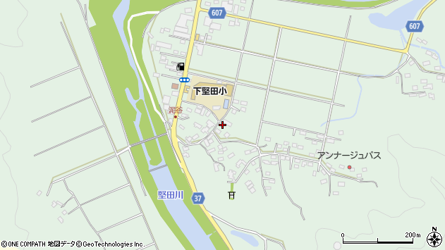 大分県佐伯市堅田5518周辺の地図
