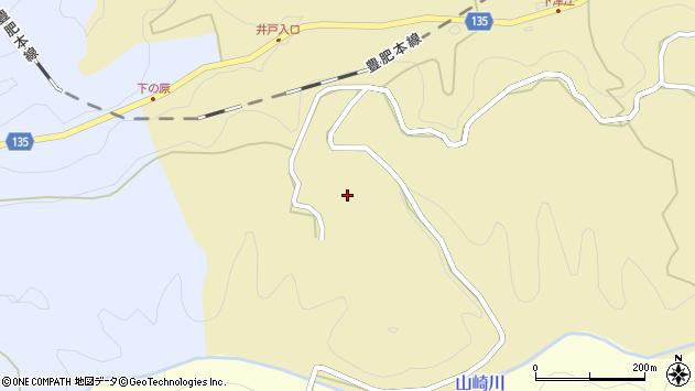 大分県竹田市荻町馬背野井戸周辺の地図