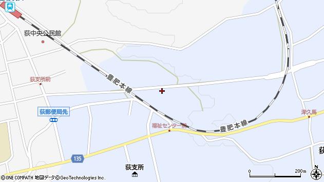 大分県竹田市荻町恵良原707周辺の地図