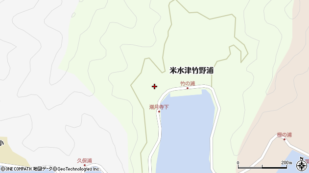 大分県佐伯市米水津大字竹野浦198周辺の地図