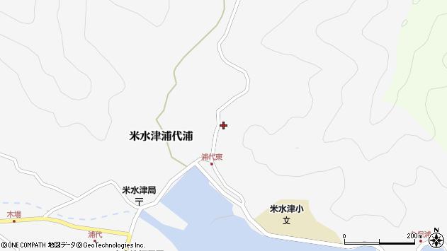 大分県佐伯市米水津大字浦代浦176周辺の地図
