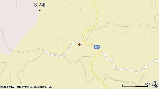 大分県竹田市太田牧周辺の地図