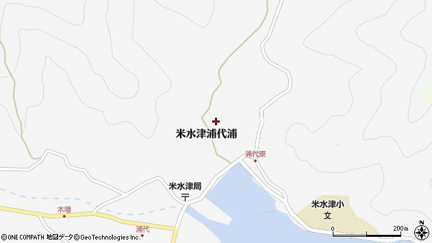 大分県佐伯市米水津大字浦代浦554周辺の地図