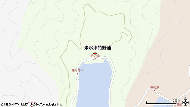 大分県佐伯市米水津大字竹野浦278周辺の地図