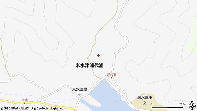 大分県佐伯市米水津大字浦代浦538周辺の地図