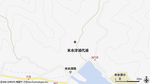 大分県佐伯市米水津大字浦代浦545周辺の地図