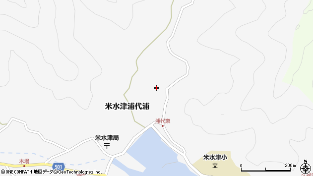 大分県佐伯市米水津大字浦代浦509周辺の地図