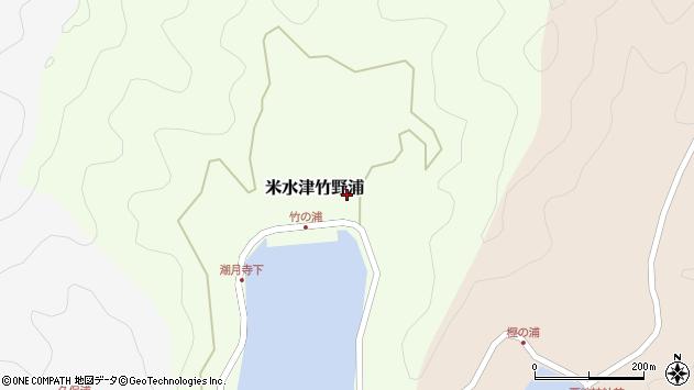 大分県佐伯市米水津大字竹野浦297周辺の地図