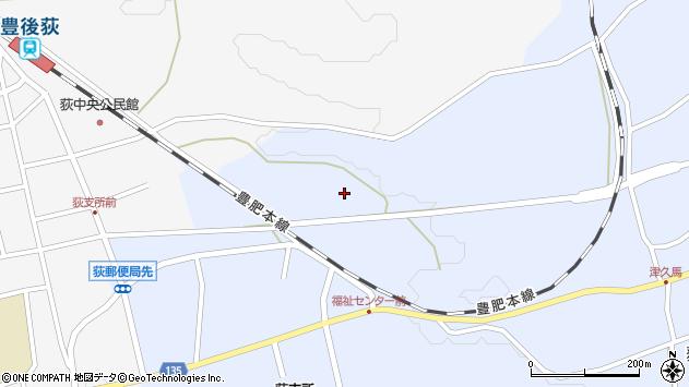 大分県竹田市荻町恵良原760周辺の地図