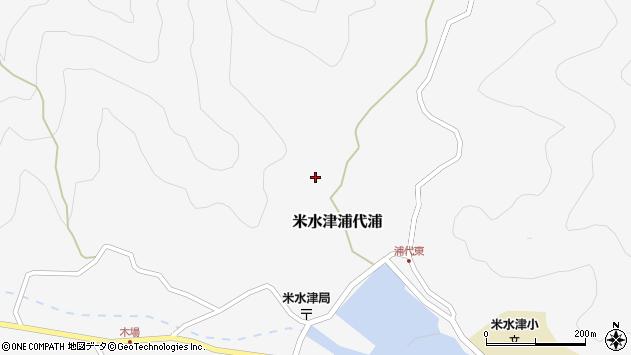 大分県佐伯市米水津大字浦代浦480周辺の地図