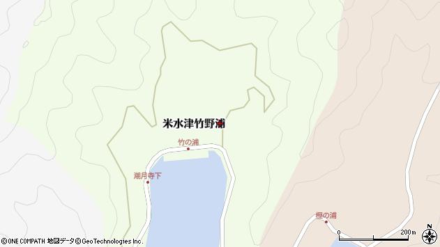 大分県佐伯市米水津大字竹野浦598周辺の地図