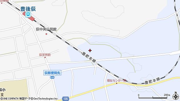 大分県竹田市荻町恵良原718周辺の地図