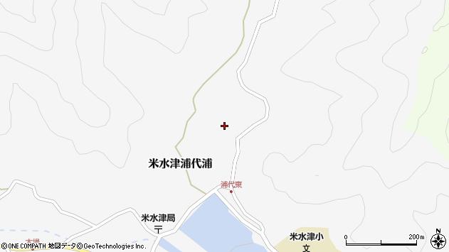 大分県佐伯市米水津大字浦代浦508周辺の地図