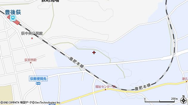 大分県竹田市荻町恵良原711周辺の地図