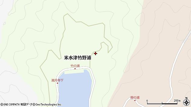 大分県佐伯市米水津大字竹野浦628周辺の地図