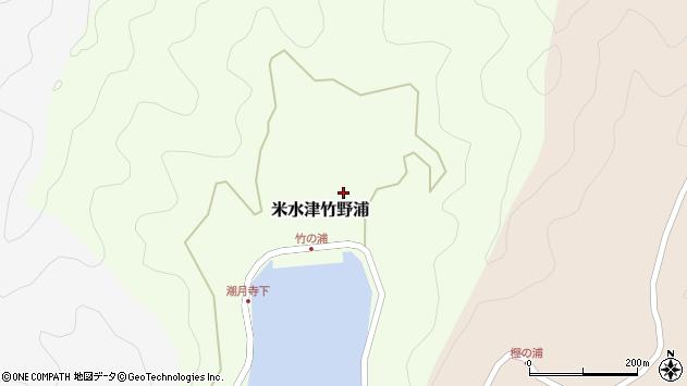 大分県佐伯市米水津大字竹野浦307周辺の地図