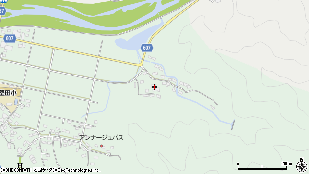 大分県佐伯市堅田6244周辺の地図