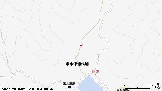 大分県佐伯市米水津大字浦代浦406周辺の地図