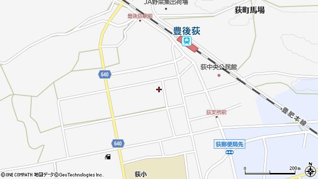 大分県竹田市荻町馬場栄区周辺の地図