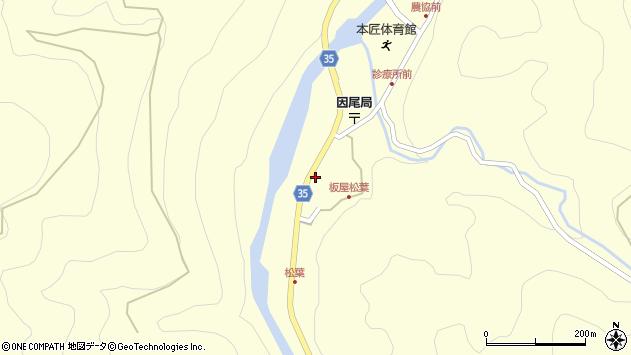 大分県佐伯市本匠大字堂ノ間1375周辺の地図