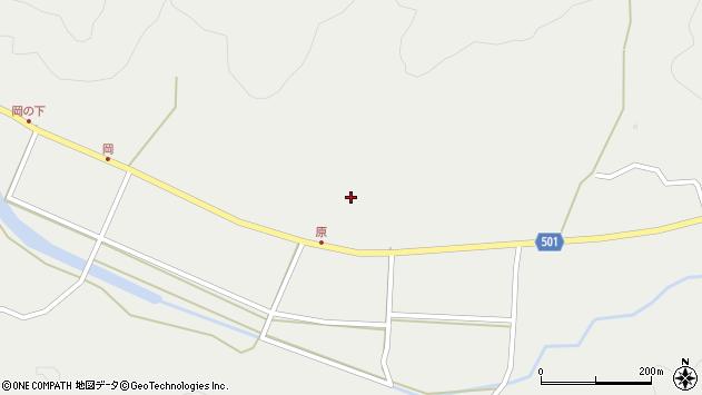 大分県佐伯市木立大野東区原周辺の地図