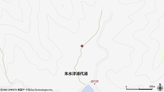大分県佐伯市米水津大字浦代浦400周辺の地図