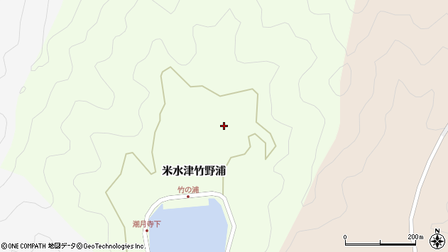 大分県佐伯市米水津大字竹野浦570周辺の地図
