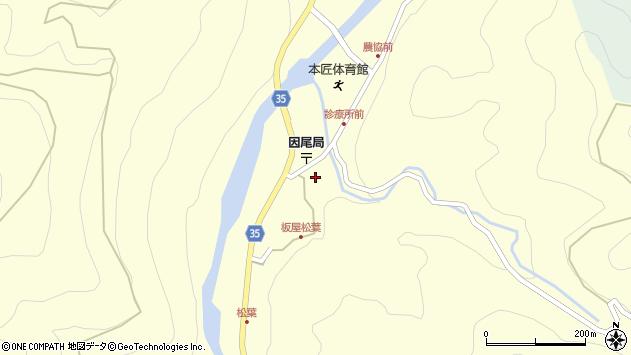 大分県佐伯市本匠大字堂ノ間1286周辺の地図