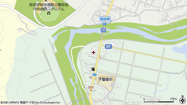 大分県佐伯市堅田6025周辺の地図