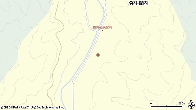 大分県佐伯市弥生大字提内409周辺の地図