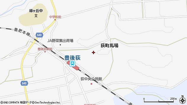 大分県竹田市荻町馬場392周辺の地図