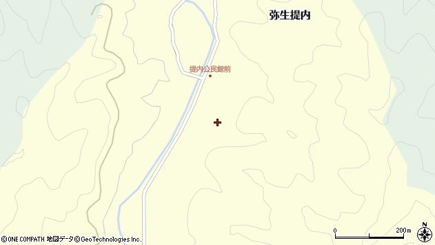大分県佐伯市弥生大字提内342周辺の地図