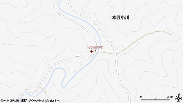 大分県佐伯市本匠大字小川542周辺の地図