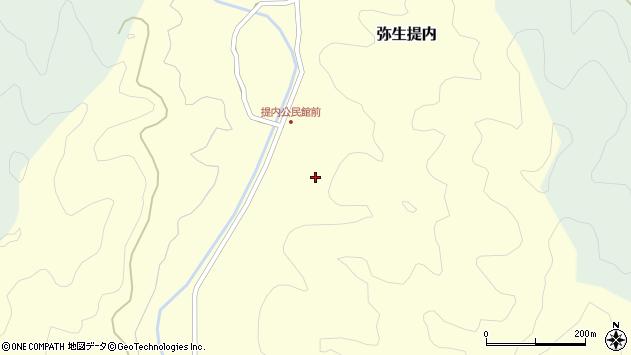 大分県佐伯市弥生大字提内347周辺の地図