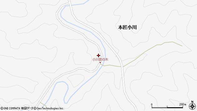 大分県佐伯市本匠大字小川534周辺の地図