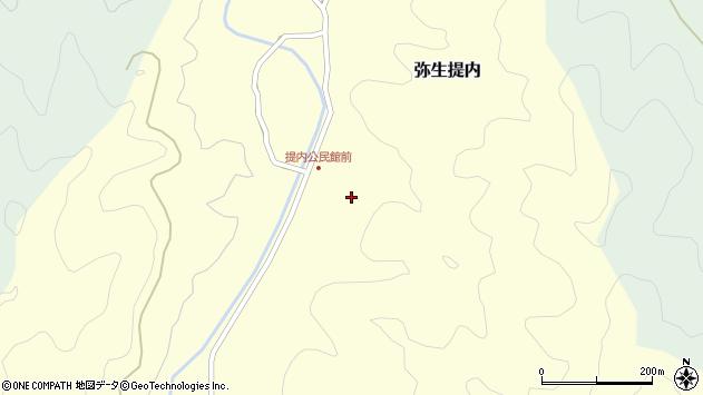 大分県佐伯市弥生大字提内352周辺の地図