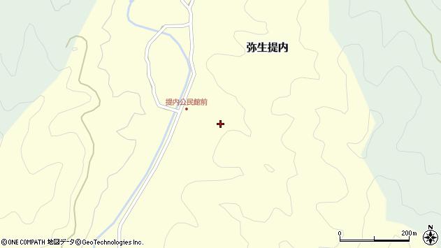 大分県佐伯市弥生大字提内359周辺の地図
