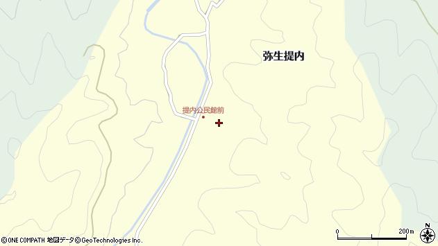 大分県佐伯市弥生大字提内367周辺の地図