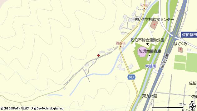大分県佐伯市長谷5410周辺の地図