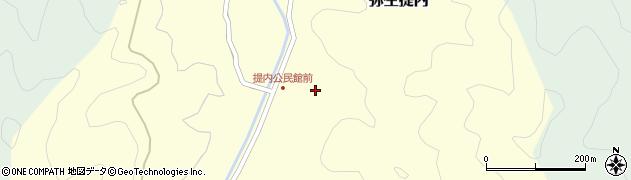大分県佐伯市弥生大字提内369周辺の地図