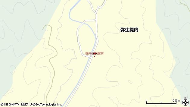 大分県佐伯市弥生大字提内380周辺の地図