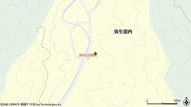 大分県佐伯市弥生大字提内373周辺の地図