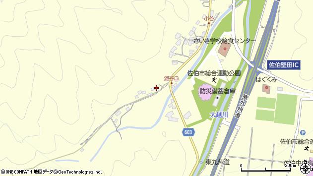 大分県佐伯市長谷5399周辺の地図