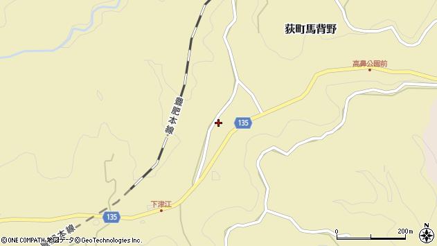 大分県竹田市荻町馬背野740周辺の地図
