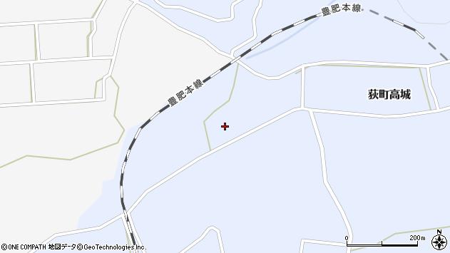 大分県竹田市荻町高城821周辺の地図