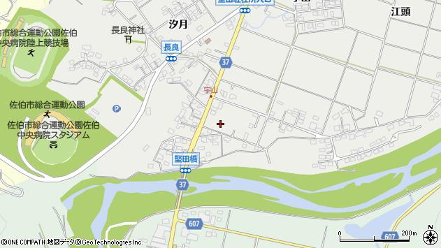 大分県佐伯市長良宇山区周辺の地図