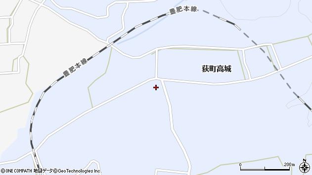 大分県竹田市荻町高城956周辺の地図